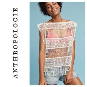 New ANTHROPOLOGIE Callahan Inez Crochet Top M